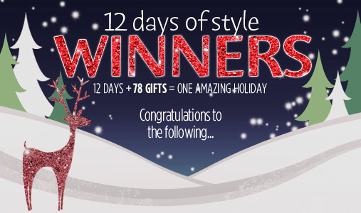 Congratulations to the 12 Days of Style Winners