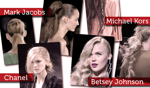 Marc Jacbos, Michael Kors, Betsey Johnson, and Chanel Hair Trends from the Runway